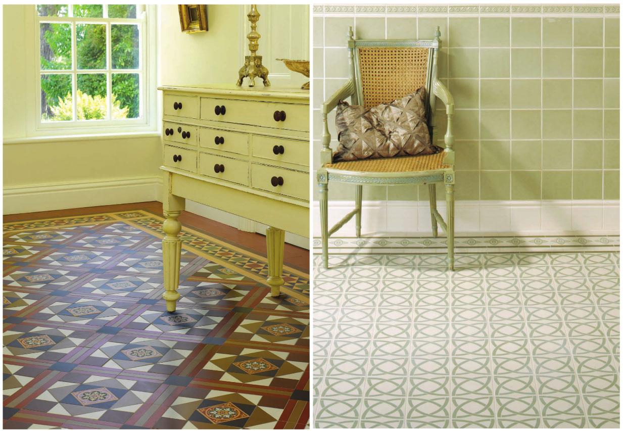 victorian tiles for vintage, victorian and turn-of-the-century