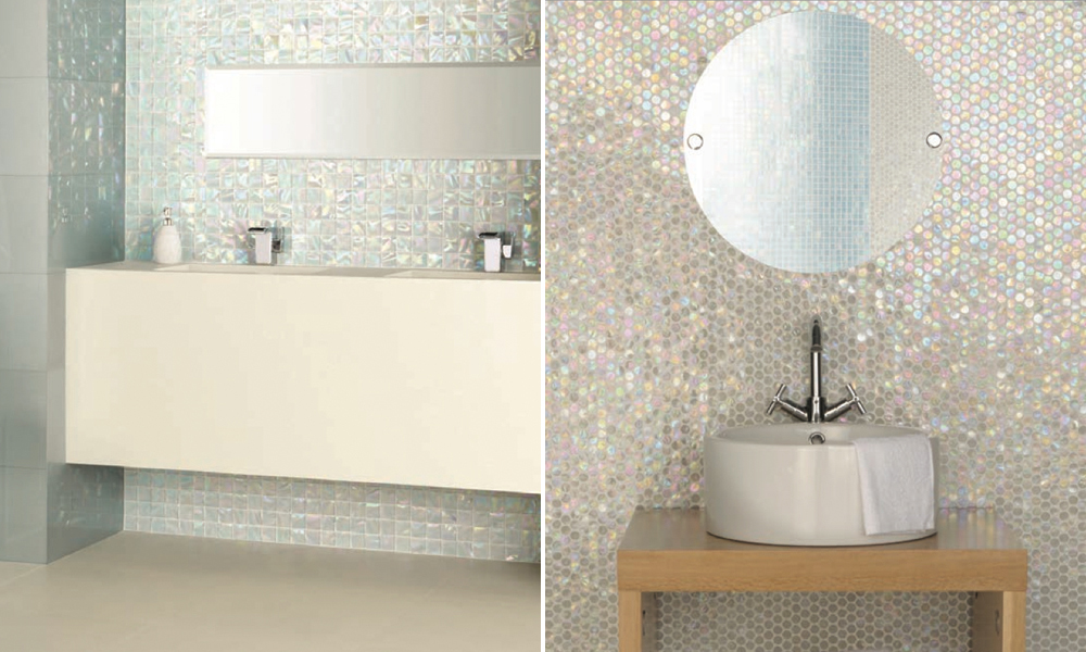 Original Style Mosaics Iridescent Glass Mosaic Tiles