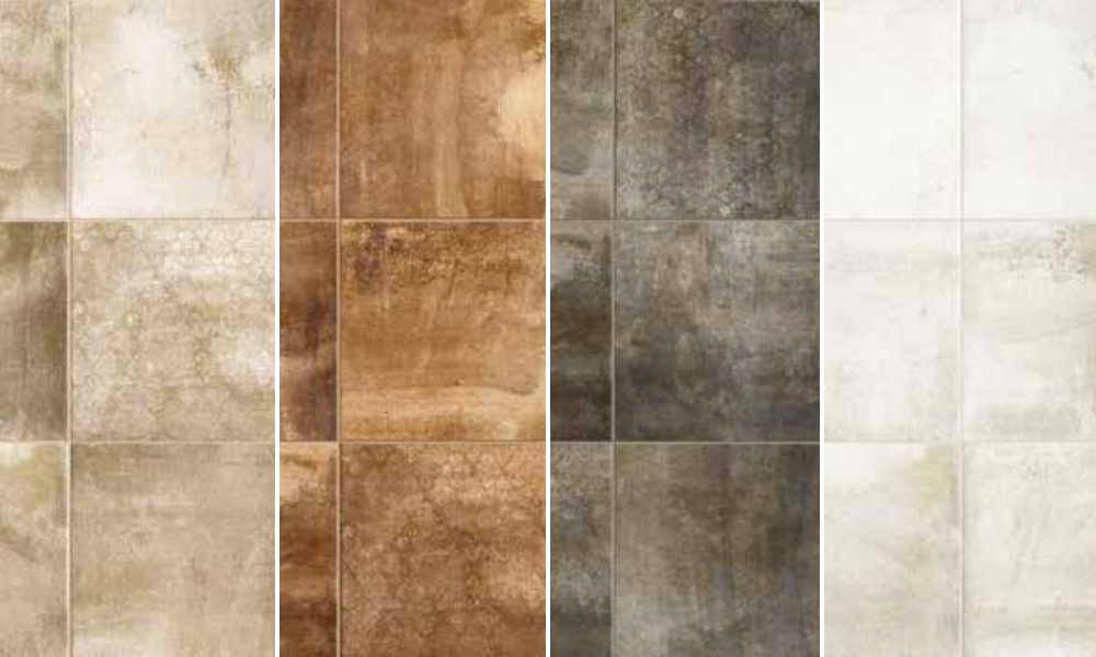 4 Mottled Tones Of Cotto Style Porcelain Tiles