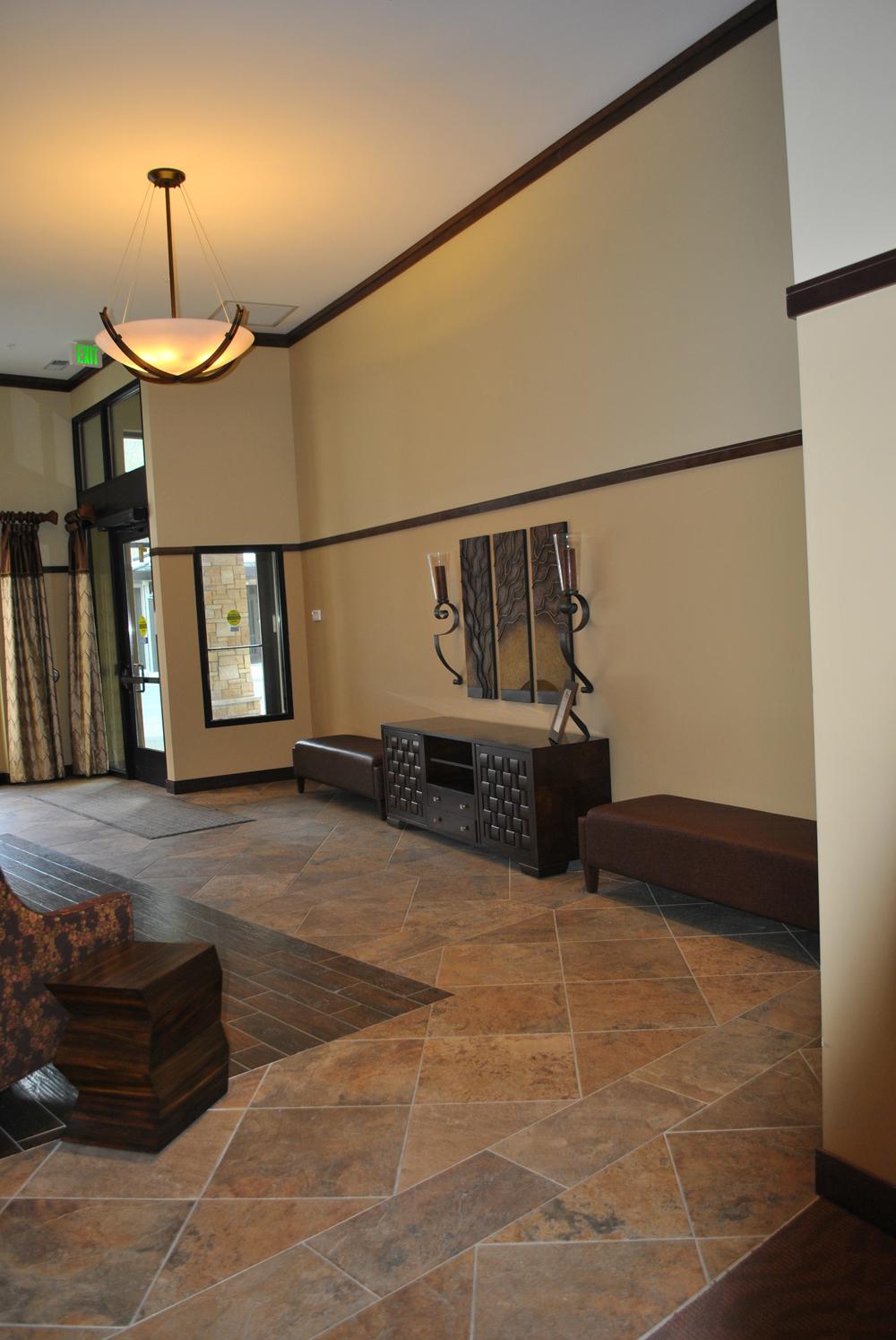 stone look lobby