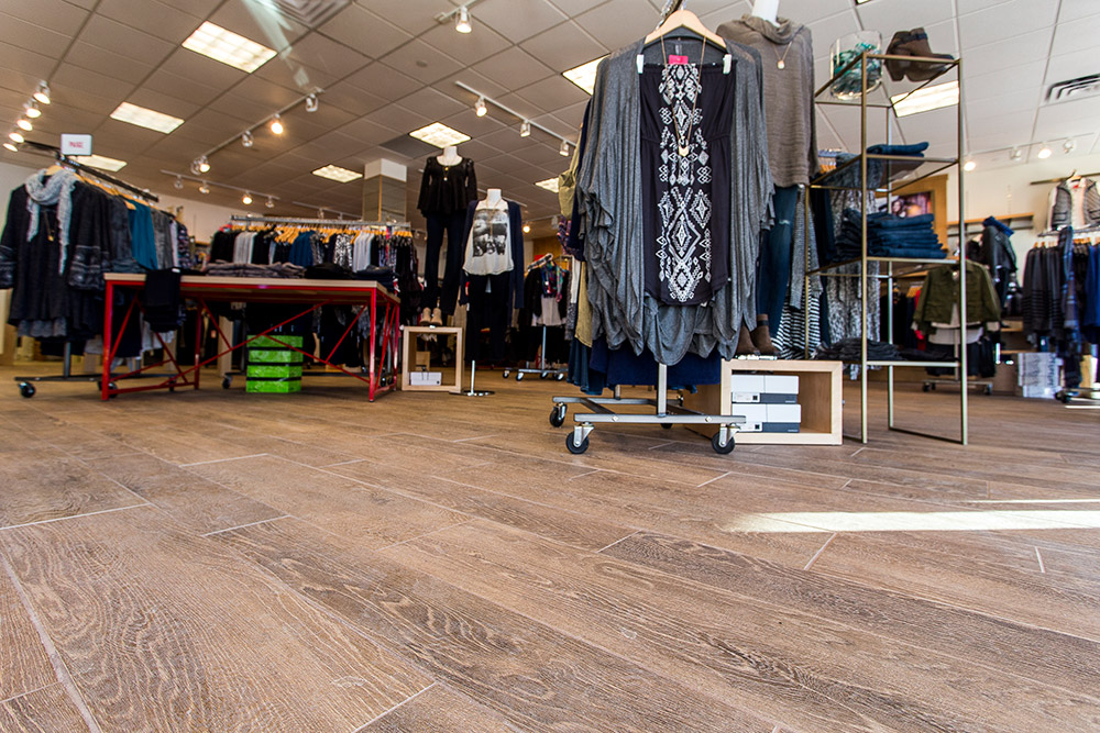 Durable Wood Look Tile For Retail Style