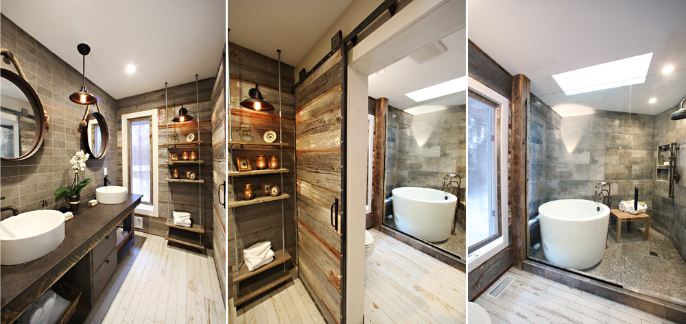 Rustic Bathroom Tile whirlwind rustic bathroom renovation - rubble tile : minneapolis