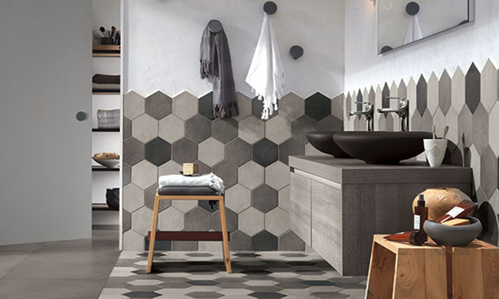 Ragno Rewind Hexagon Wall And Floor Tiles In The Bathroom Part 83