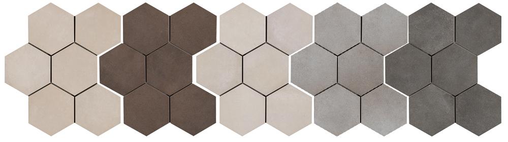 Ragno Rewind Hexagon Wall And Floor Tiles Rubble Tile