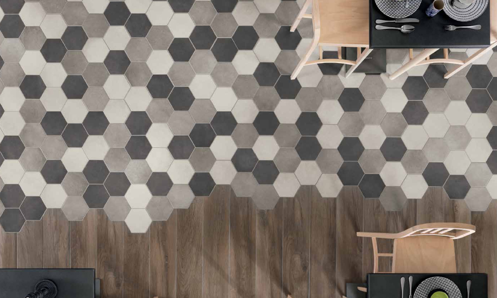 Hexagon Wall And Floor Tiles Rubble Tile Minneapolis Tile