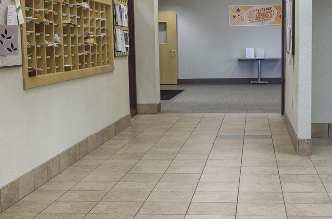Commercial floor tile