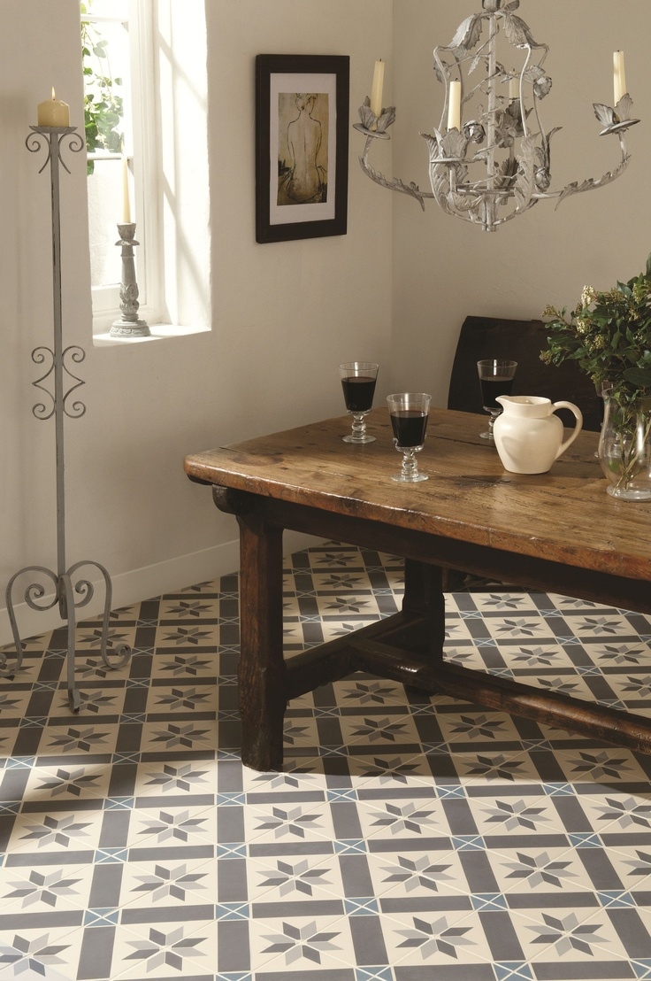original style odyssey – patterned floor tiles - rubble tile