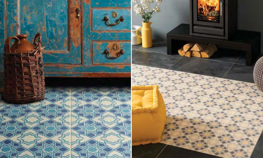 Patterns for floor tiles