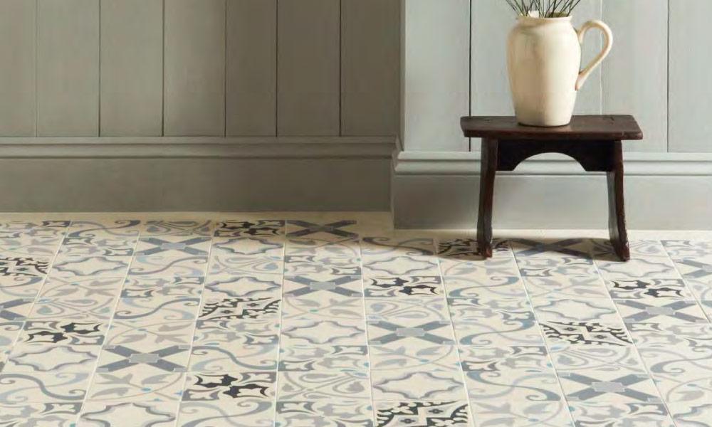 Popular Star Pattern Vintage Bathroom Floor Tile Ideas