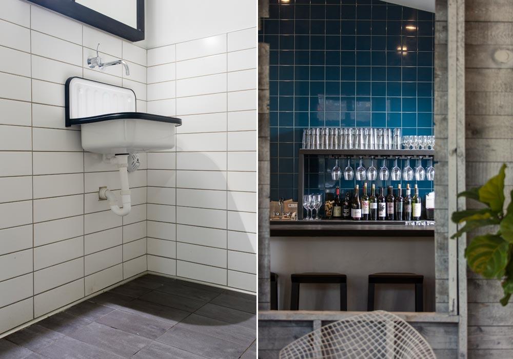 sophisticated and charming restaurant tile design