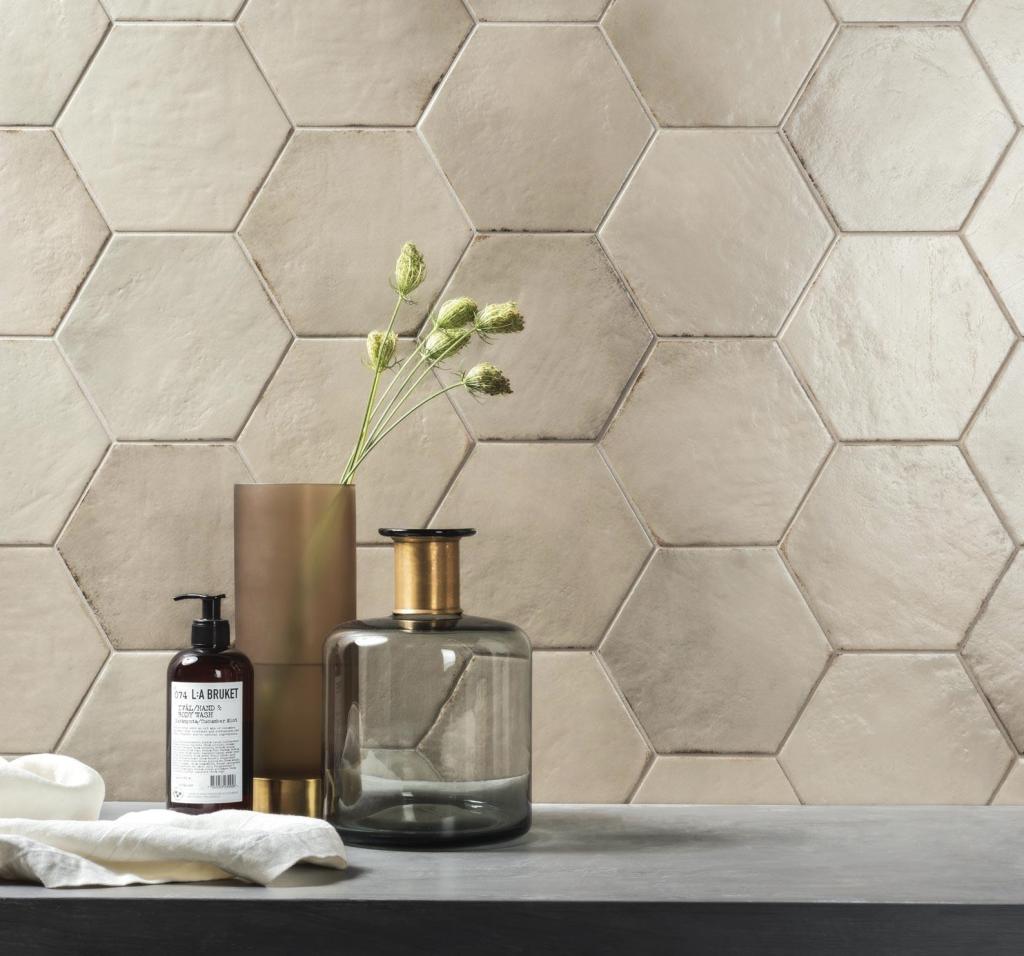 affordable porcelain hex tile