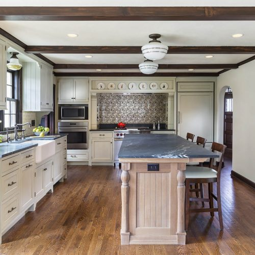 Beautiful remodeled kitchen in classic 1935 English style Tudor cottage