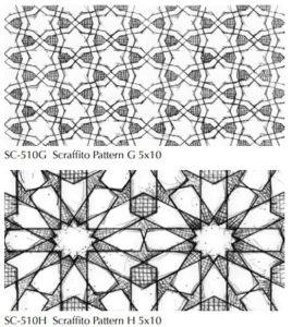 Scraffito patterns Pratt and Larson