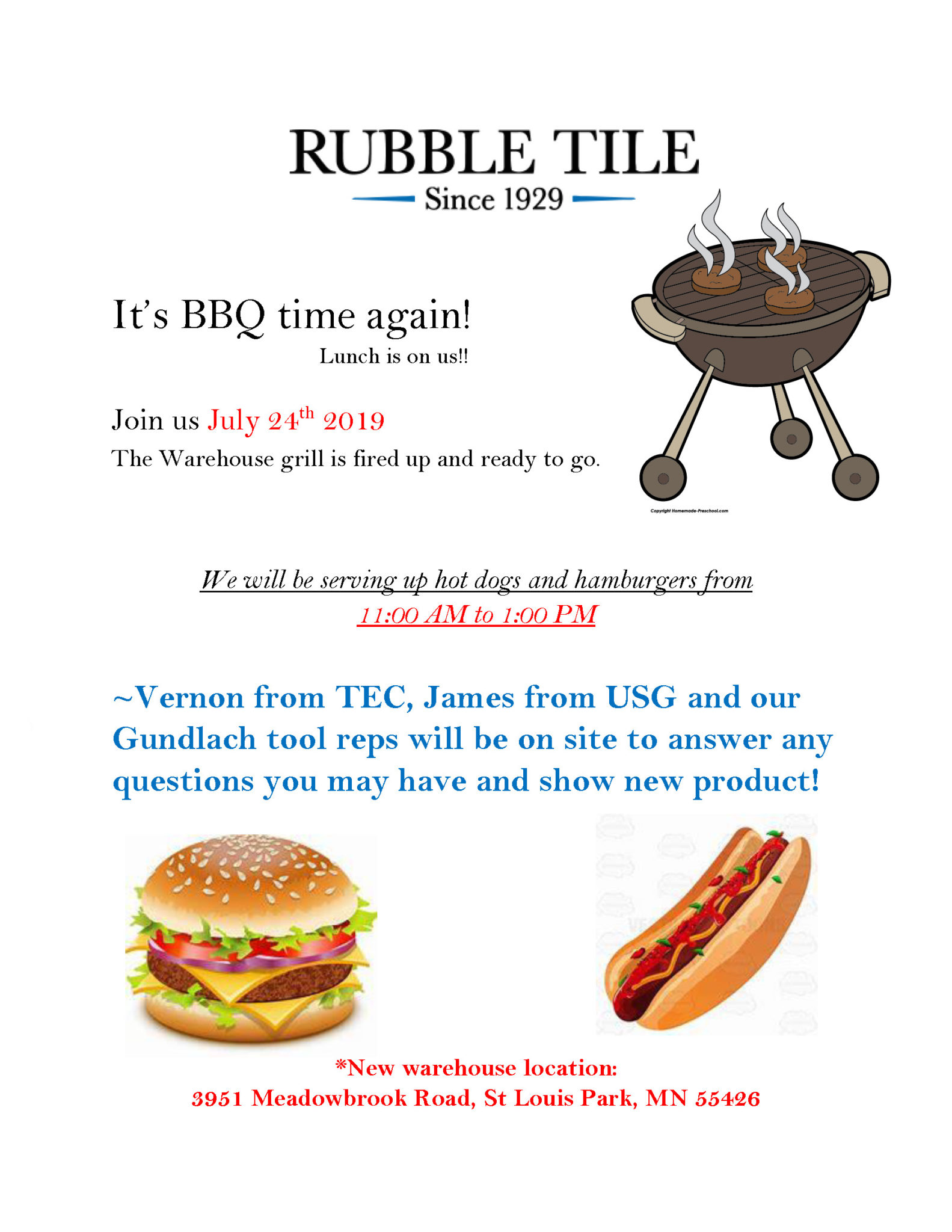 Rubble Tile BBQ 2019
