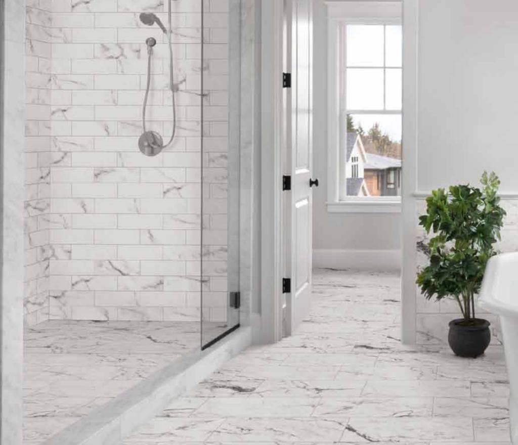 marble look porcelain tile near minneapolis