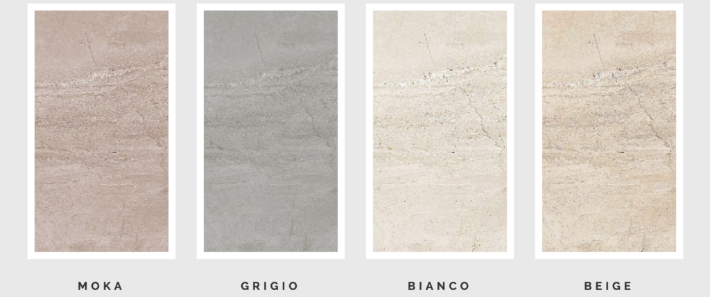 rubble tile stone porcelain colors