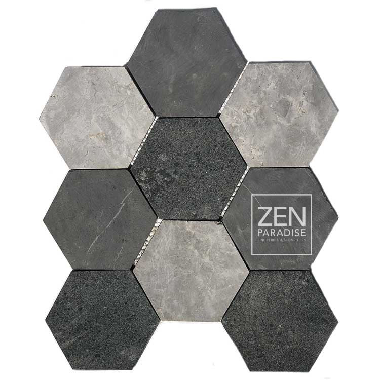 large stone hex tile