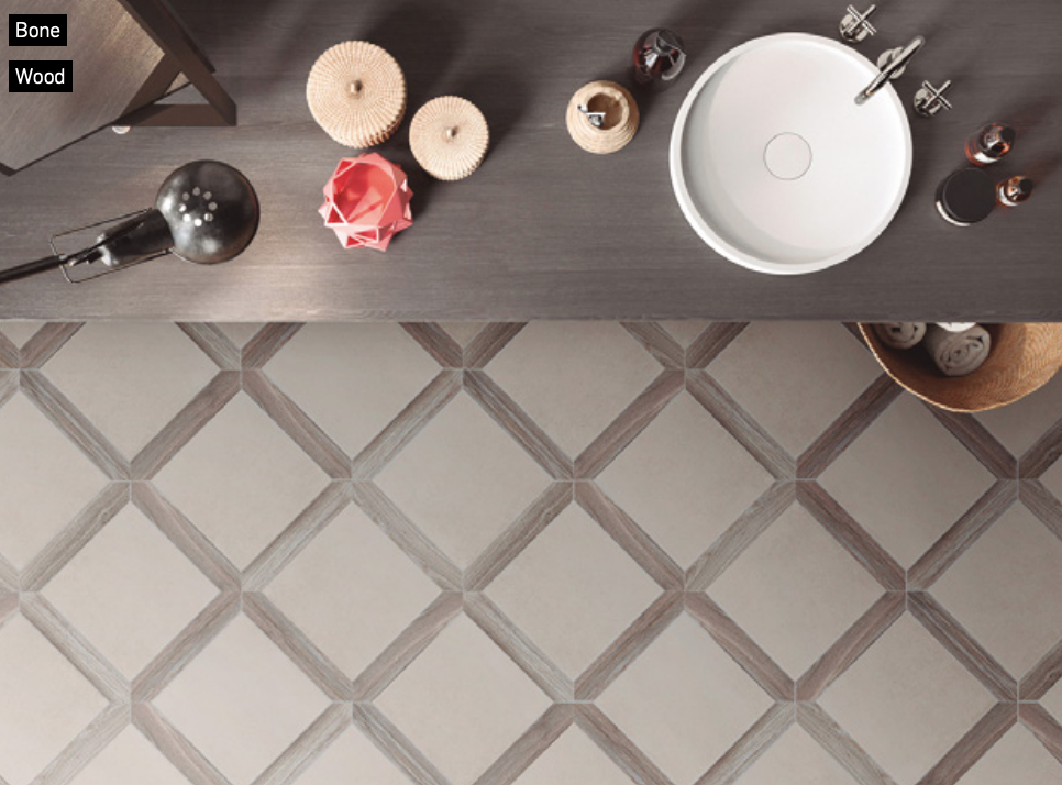 Picket shaped porcelain tile