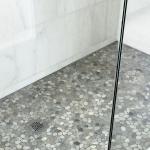 shower floor stone tile ideas